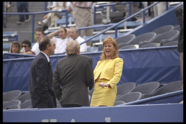 Sarah Ferguson enjoys a quiet moment during the U.S Open