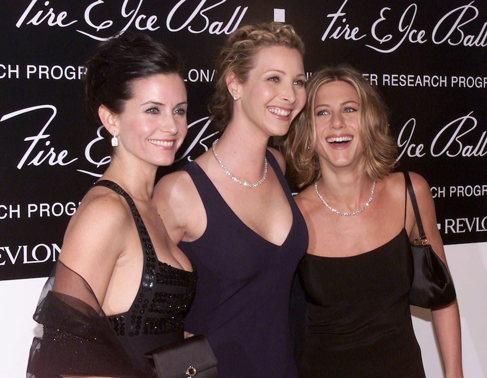 Courteney Cox, Lisa Kudrow, and Jennifer Aniston