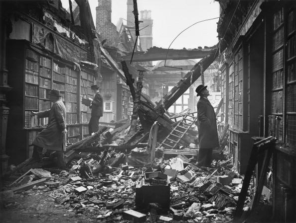 Damaged library