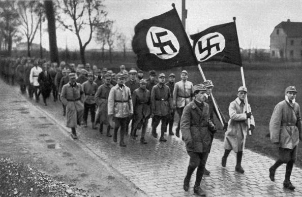 Nazi training march