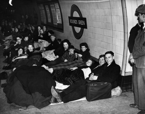 Londoners in the tube station