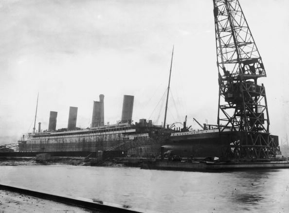 Titanic in dry dock