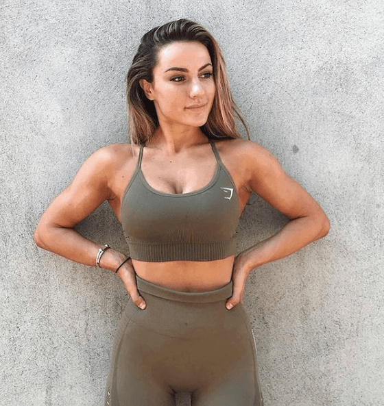 Woman wearing Gymshark leggings