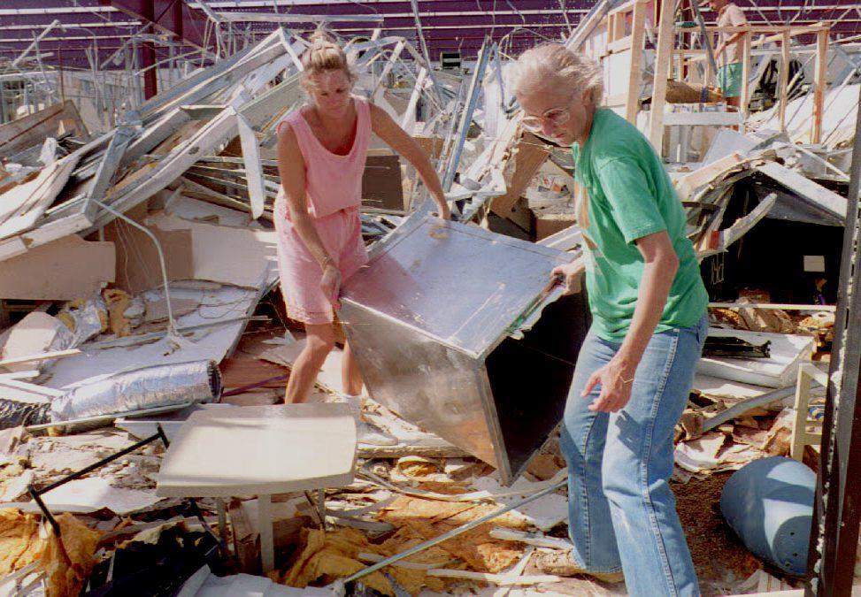Hurricane Andrew devastates Florida in 1992