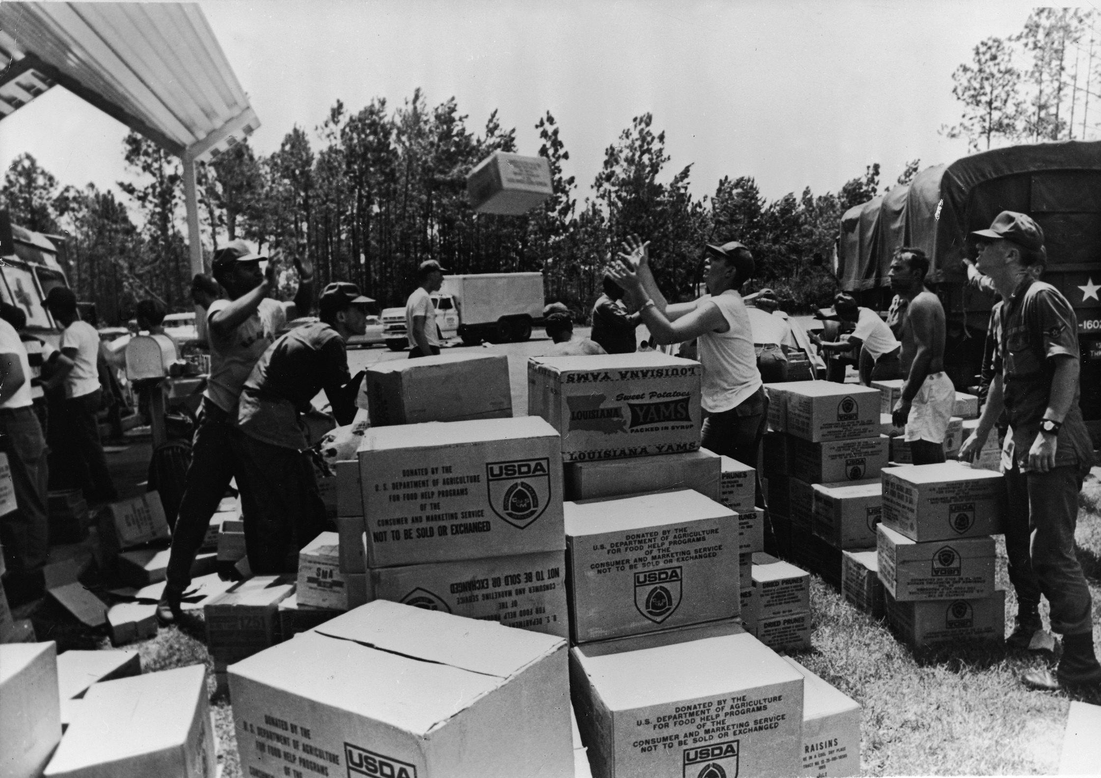Hurricane Camille hits Biloxi, Miss., in 1969