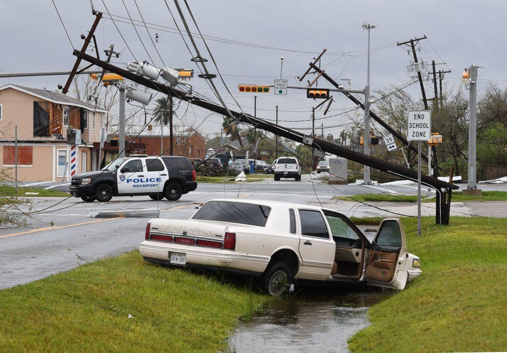 Hurricane Harvey damage in Rockport, Texas
