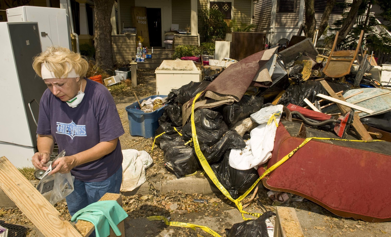 Hurricane Ike damage, Galveston, Texas.