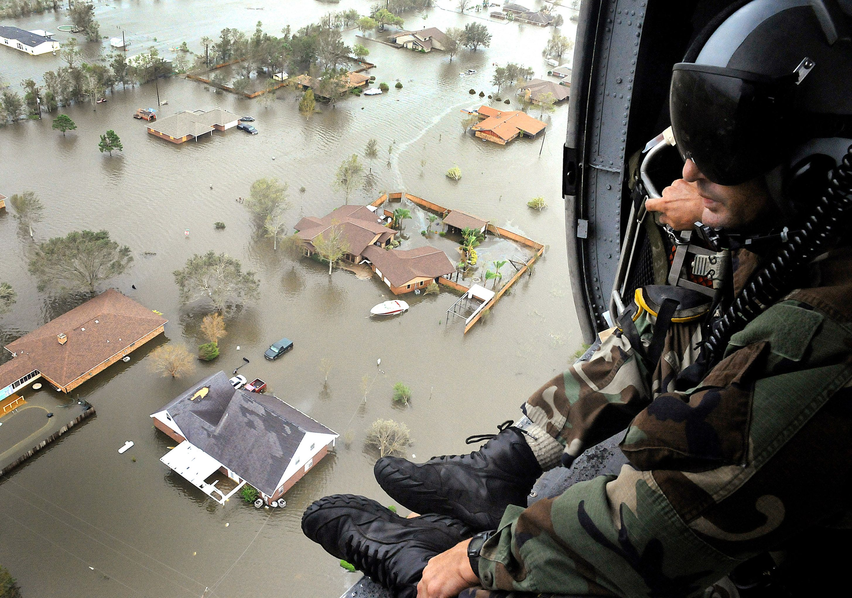 Hurricane damage from Ike in Nederland, Texas.