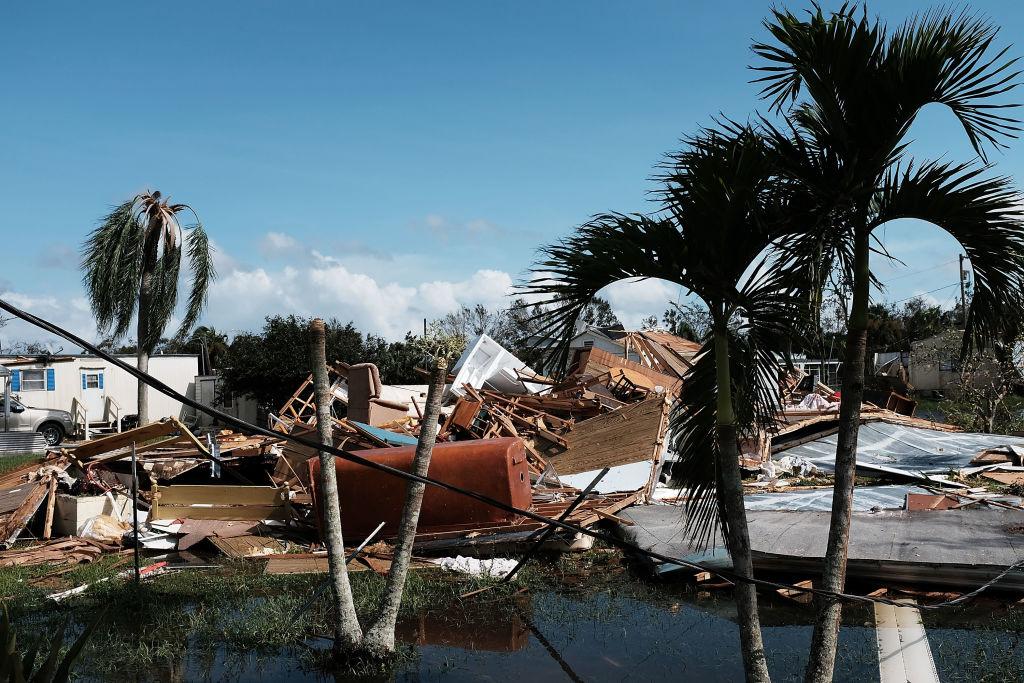 Hurricane damage in Naples, Fla, by Hurricane Irma