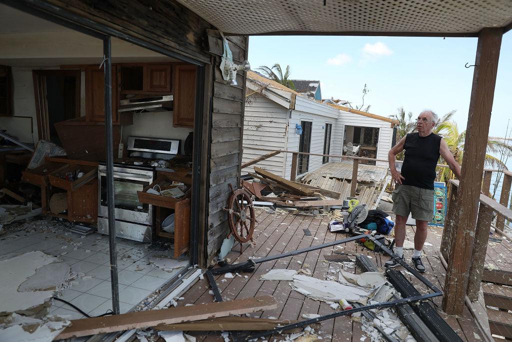 Hurricane damage -- Irma hits Florida Keys