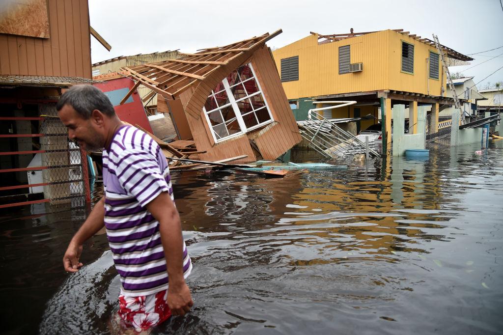 Hurricane damage -- Maria hits Puerto Rico