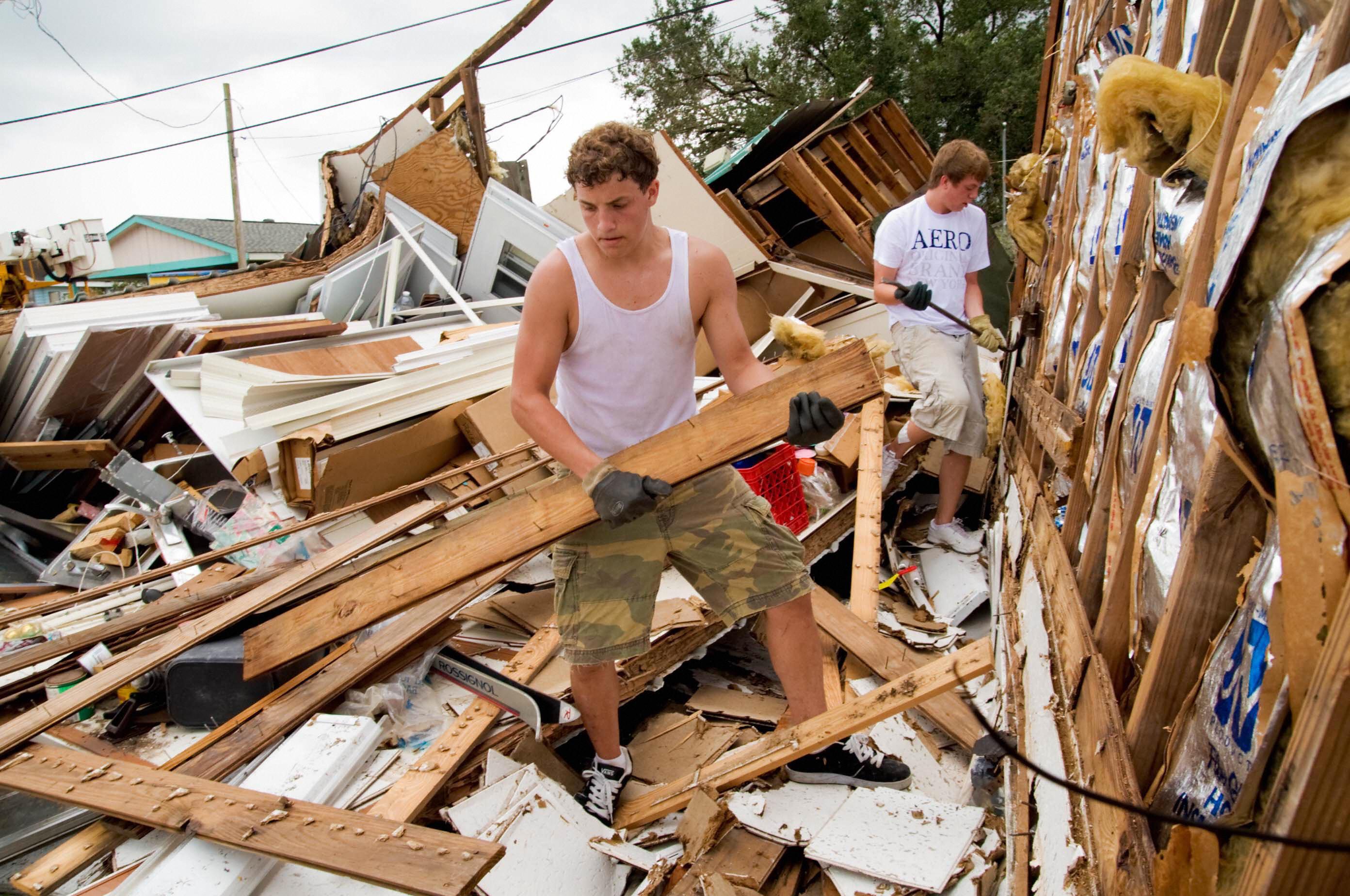 Hurricane Gustav damage in Westwego, La.