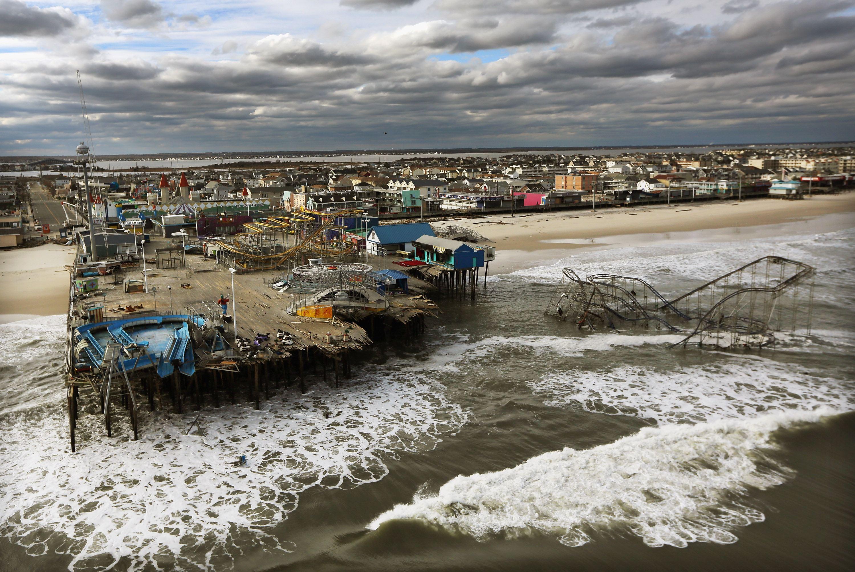 Hurricane damage superstorm Sandy in Seaside Heights, N.J.
