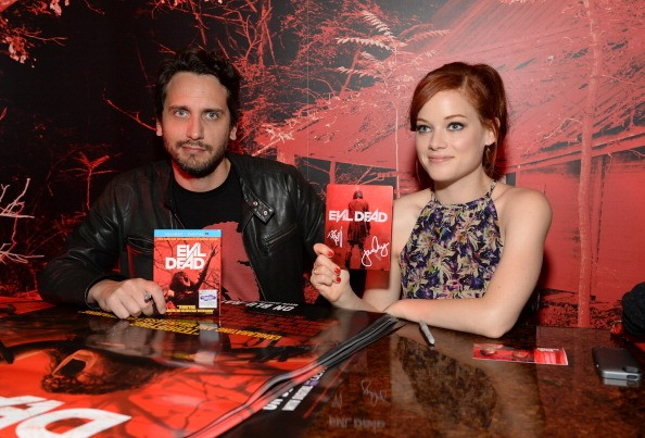 Director Fede Alvarez and actress Jane Levy