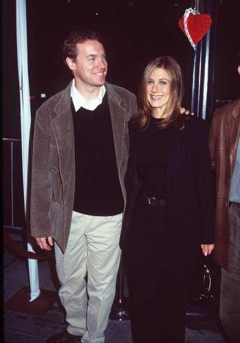 Jennifer Aniston and Tate Donovon at the Premiere of 'Fools Rush In'