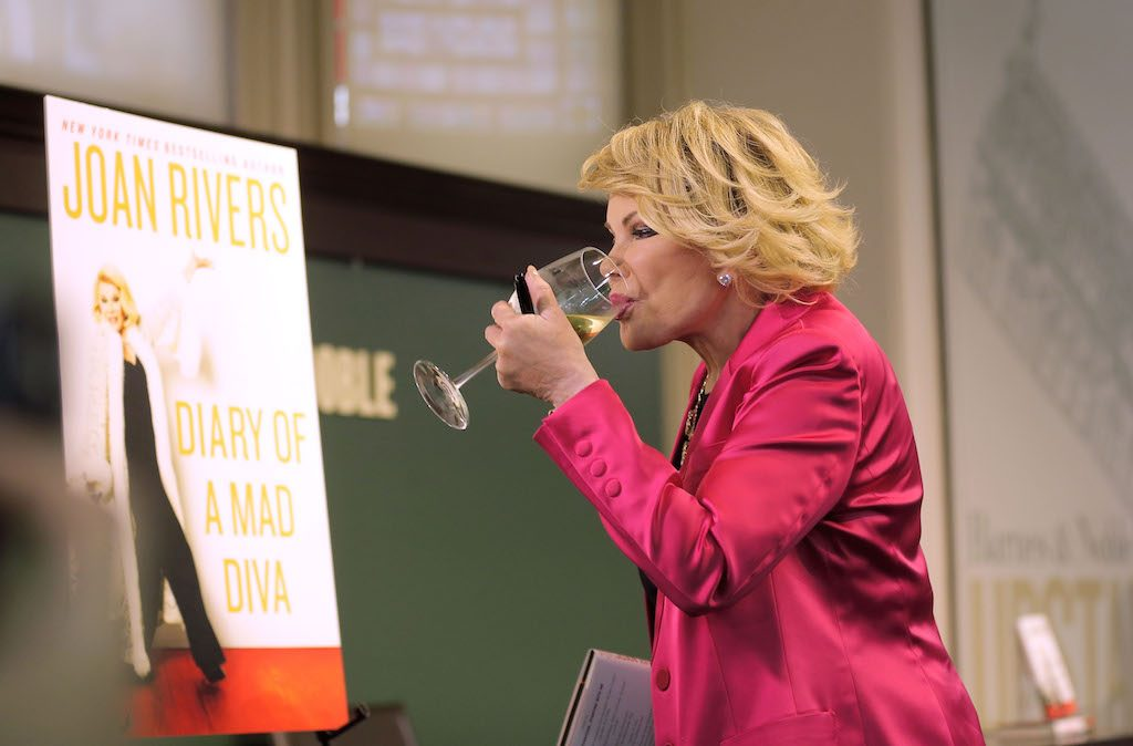 Joan Rivers promotes her book three months before death
