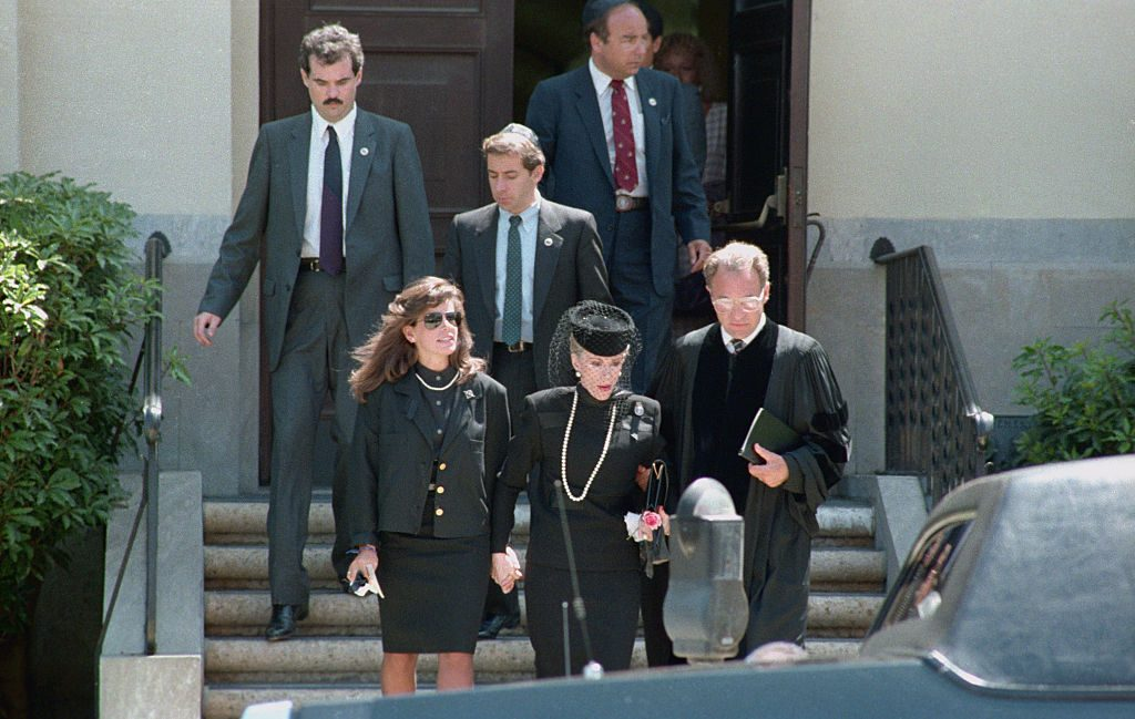 Joan Rivers and daughter Melissa leaving the Synagogue