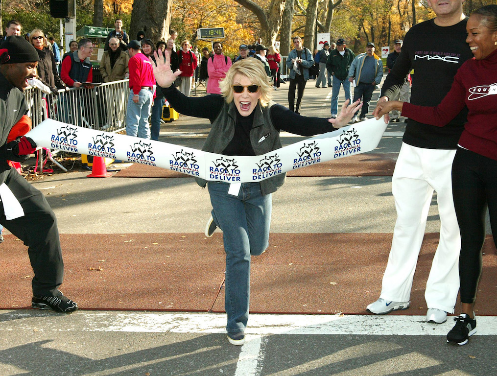 TV personality Joan Rivers at Race To Deliver Aids Benefit