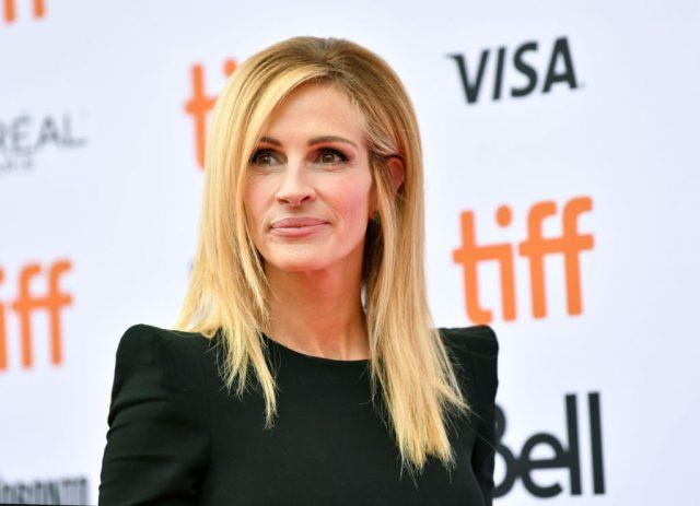 "Julia Roberts attends the ""Ben Is Back"" premiere during 2018 Toronto International Film Festival at Princess of Wales Theatre on September 8, 2018 in Toronto, Canada"