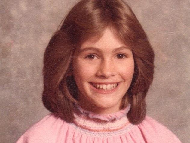 Julia Roberts as a child