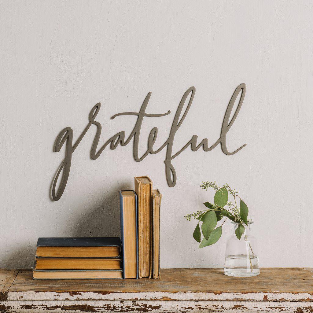 Grateful Script Sign