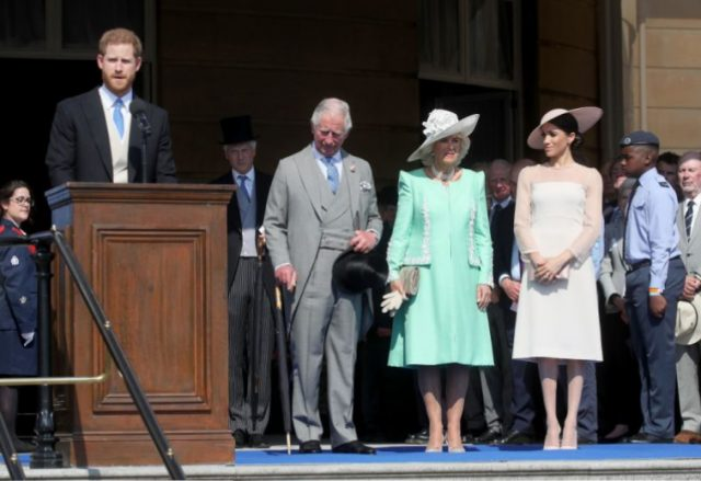 Prince Harry, Prince Charles, Camilla Parker Bowles, and Meghan Markle