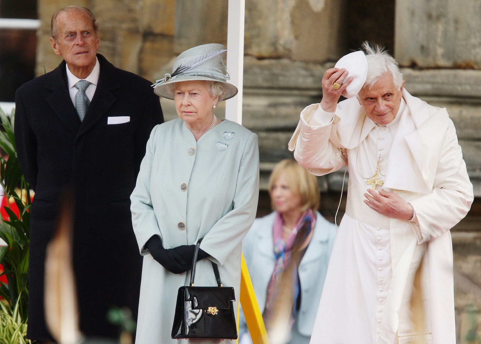 Queen Elizabeth with the Pope