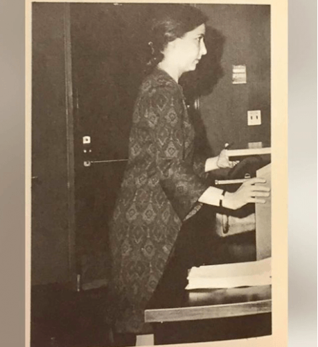 RBG circa 1970 at Rutgers-Newark Law School