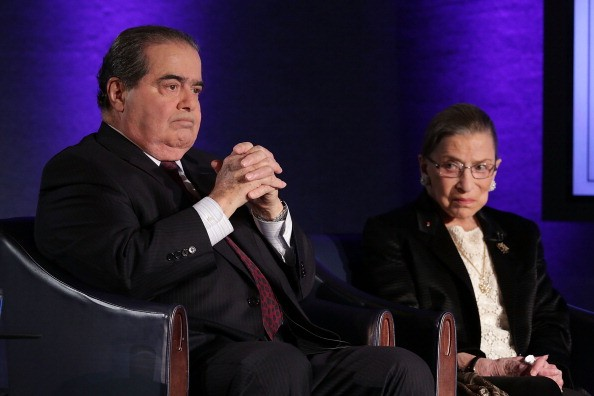 Supreme Court Justices Antonin Scalia and RBG in 2014