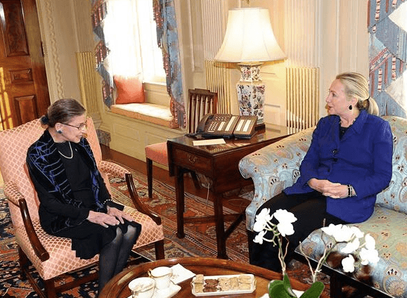RBG and Hillary Clinton