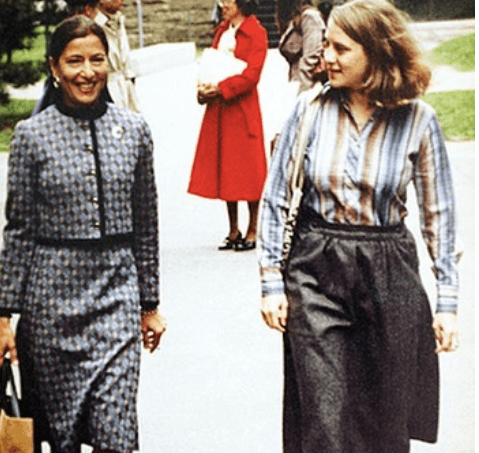 RBG with daughter Jane in 1978