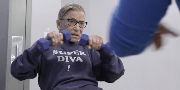 RBG lifting weights