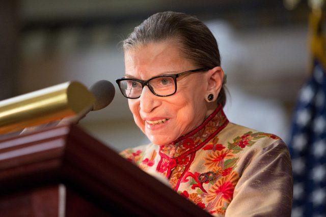 U.S. Supreme Court Justice Ruth Bader Ginsburg speaks at an annual Women's History Month