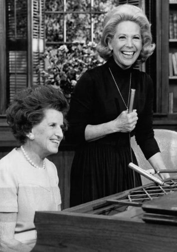 Rose Kennedy and Dinah Shore from the television program Dinah's Place