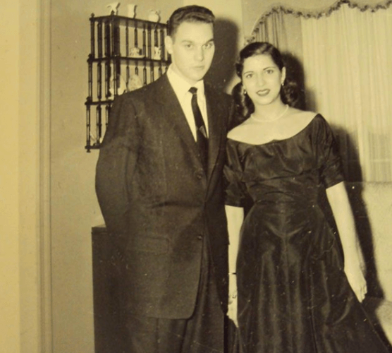 Ruth and Marty following their engagement party on Dec. 27, 1953