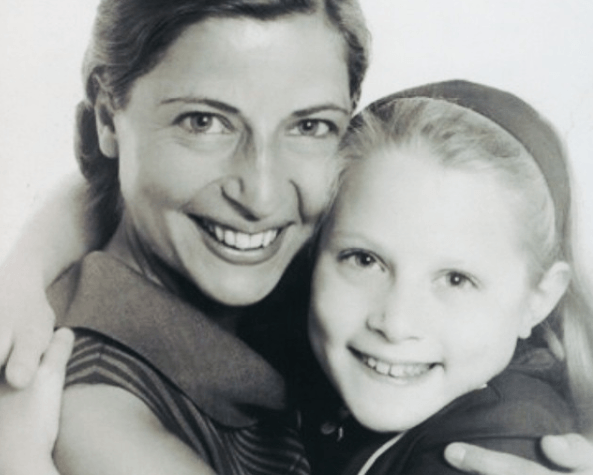 Ruth and her daughter Jane in the 1960s