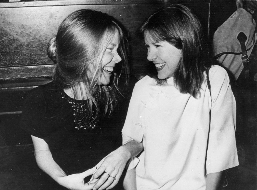 Sissy Spacek and Carrie Fisher