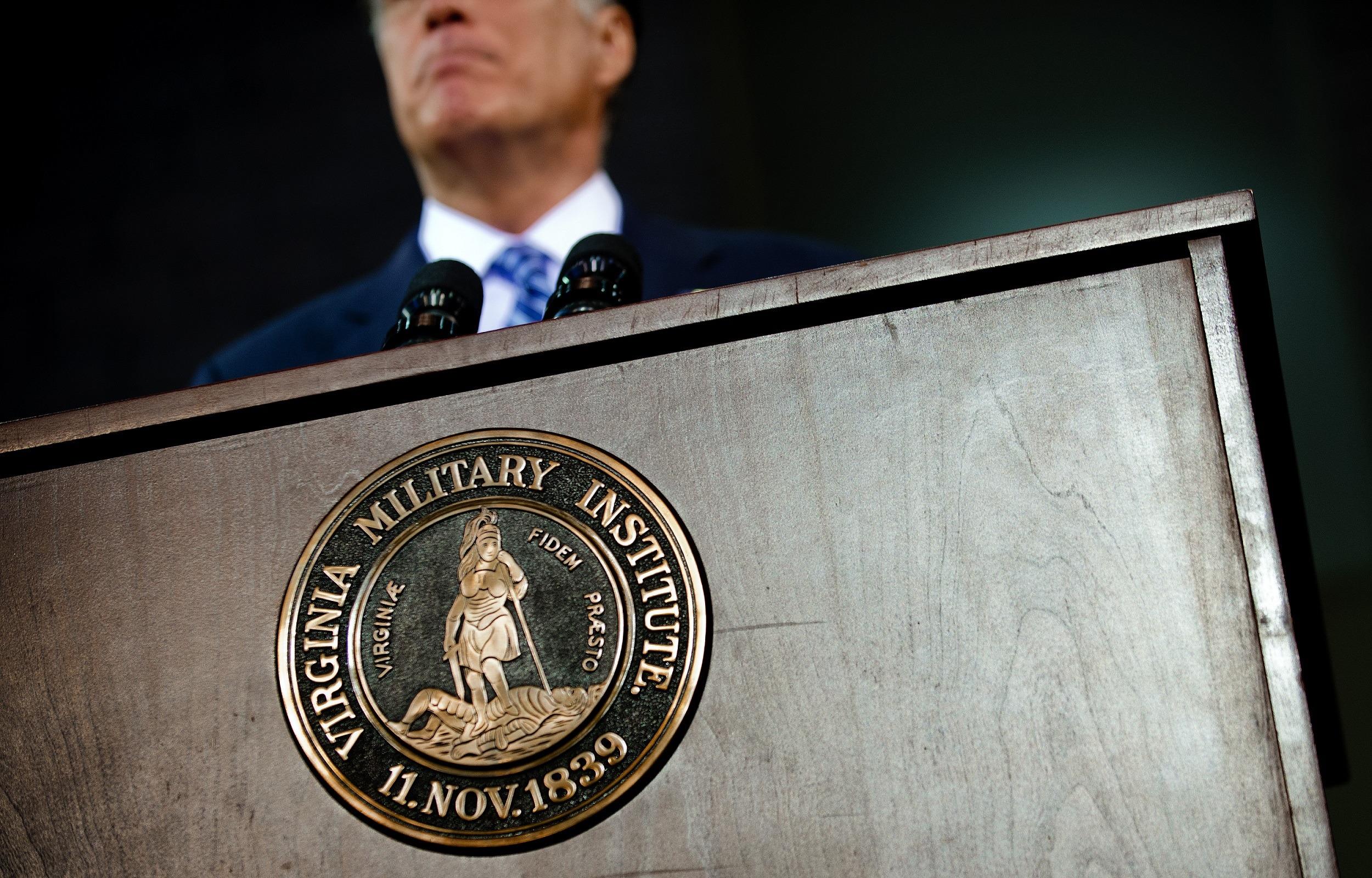 Presidential debate at the Virginia Military Institute