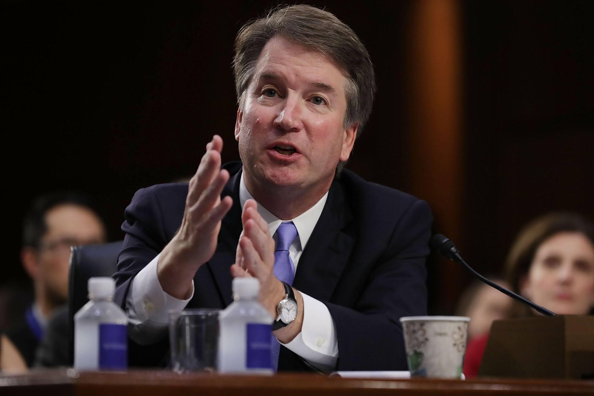 Supreme Court nominee Judge Brett Kavanaugh testifies before the Senate Judiciary Committee