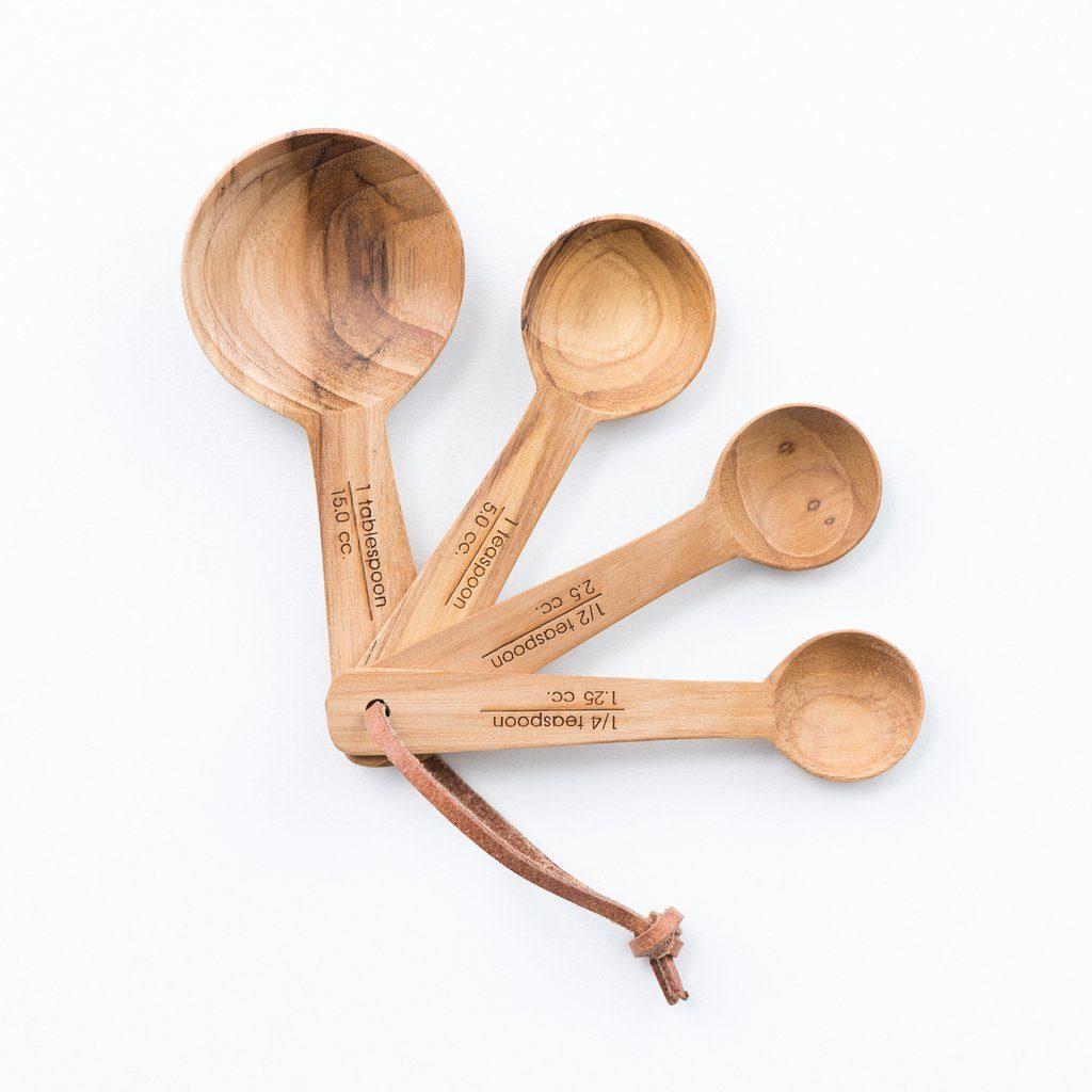 Teak Measuring Spoons
