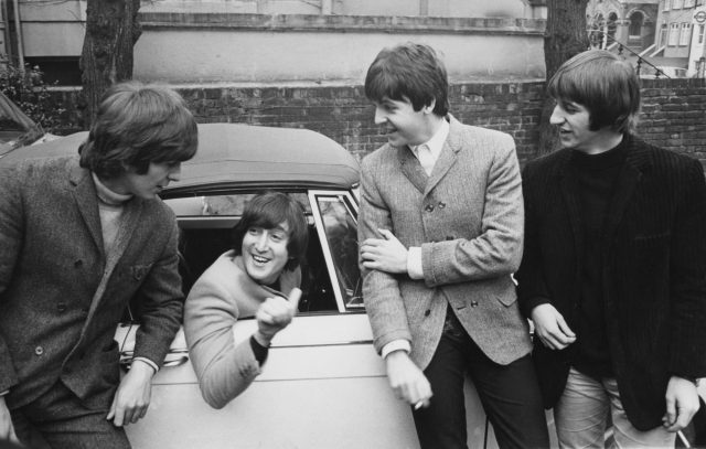 The Beatles congratulate John Lennon on passing his driving test