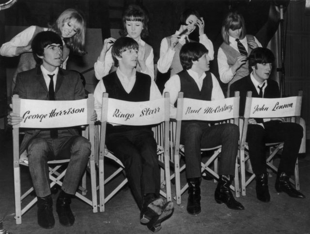The Beatles have their famous hair-dos tidied up