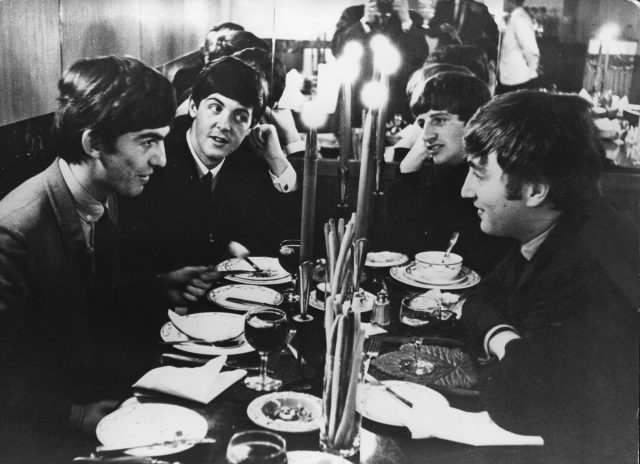 The Beatles meet for the first time after their holidays