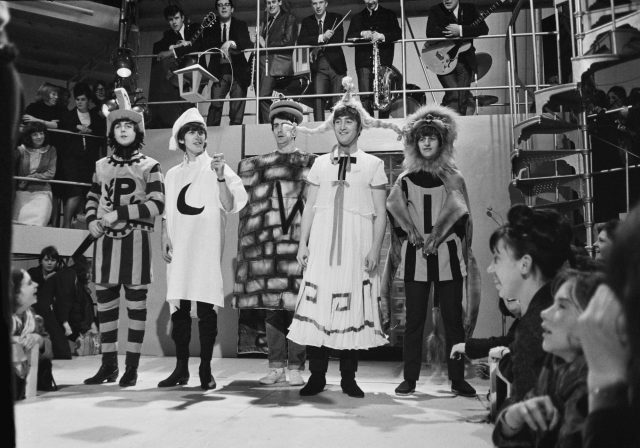 The Beatles rehearsing an excerpt from Shakespeare's 'A Midsummer Night's Dream'
