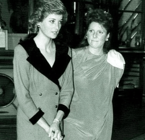 The Duchess of York and Princess Diana