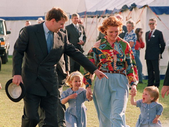 The Duke and Duchess of York appear together with their children  