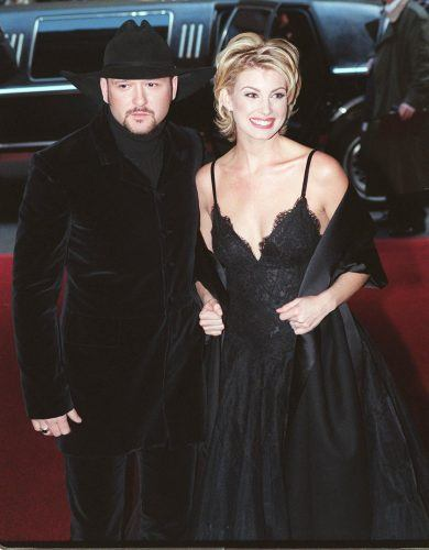 Tim McGraw and Faith Hill arrive for the arrive for the 40th annual Grammy Awards