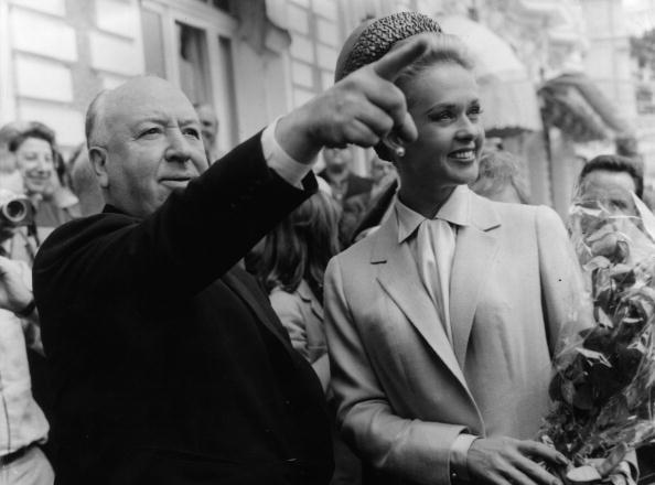 Alfred Hitchcock and Tippi Hedren