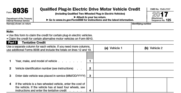 Claiming The 7 500 Electric Vehicle Tax Credit A Step By