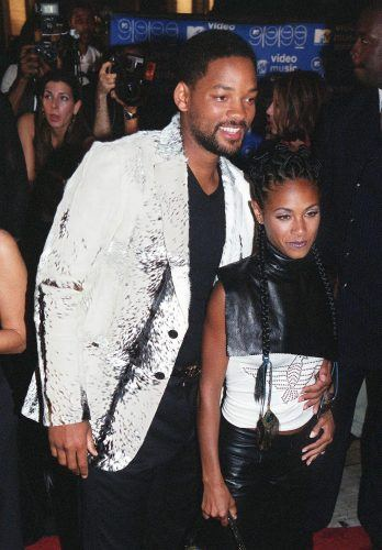 Will Smith and Jada Pinkett Smith arrive for the arrive for the MTV Video Music Awards in 1999